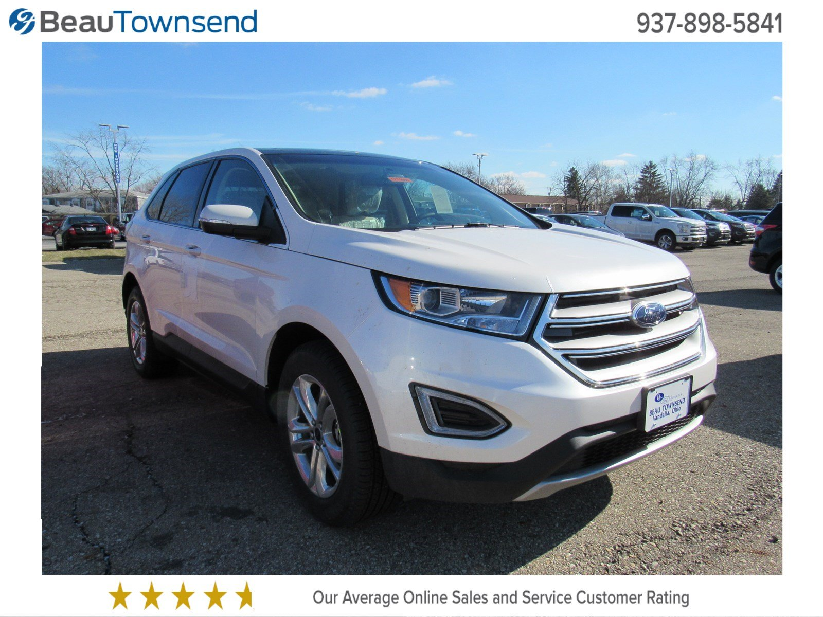 new 2017 ford edge sel sport utility in vandalia 17t0568 beau townsend ford lincoln. Black Bedroom Furniture Sets. Home Design Ideas